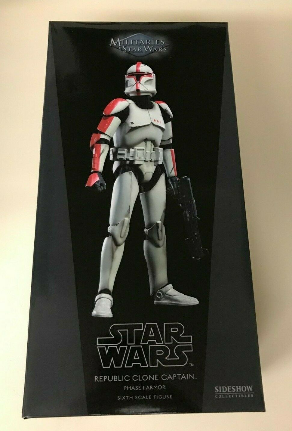 """Sideshow Star Wars 12"""" Republic Clone Captain Phase I Armor AOTC Red on eBay thumbnail"""