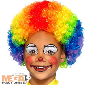 Rainbow Clown Wig Kids Fancy Dress Carnival Circus Childrens Kids ... 7ec267dfdfe0