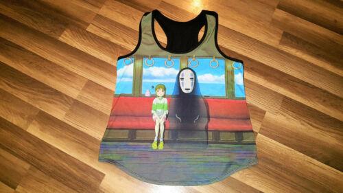 Spirited Away sleeveless T Shirt Studio Ghibli Vtg