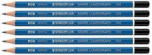 Staedtler-Mars-Lumograph-Pencils-100-HB-6-Pack-Pre-Sharpened-100HB