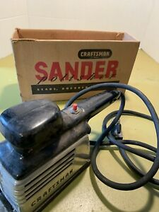 Lot-Of-3-Vintage-Power-Tools-2-Sanders-1-Electric-Drills-all-Craftsman