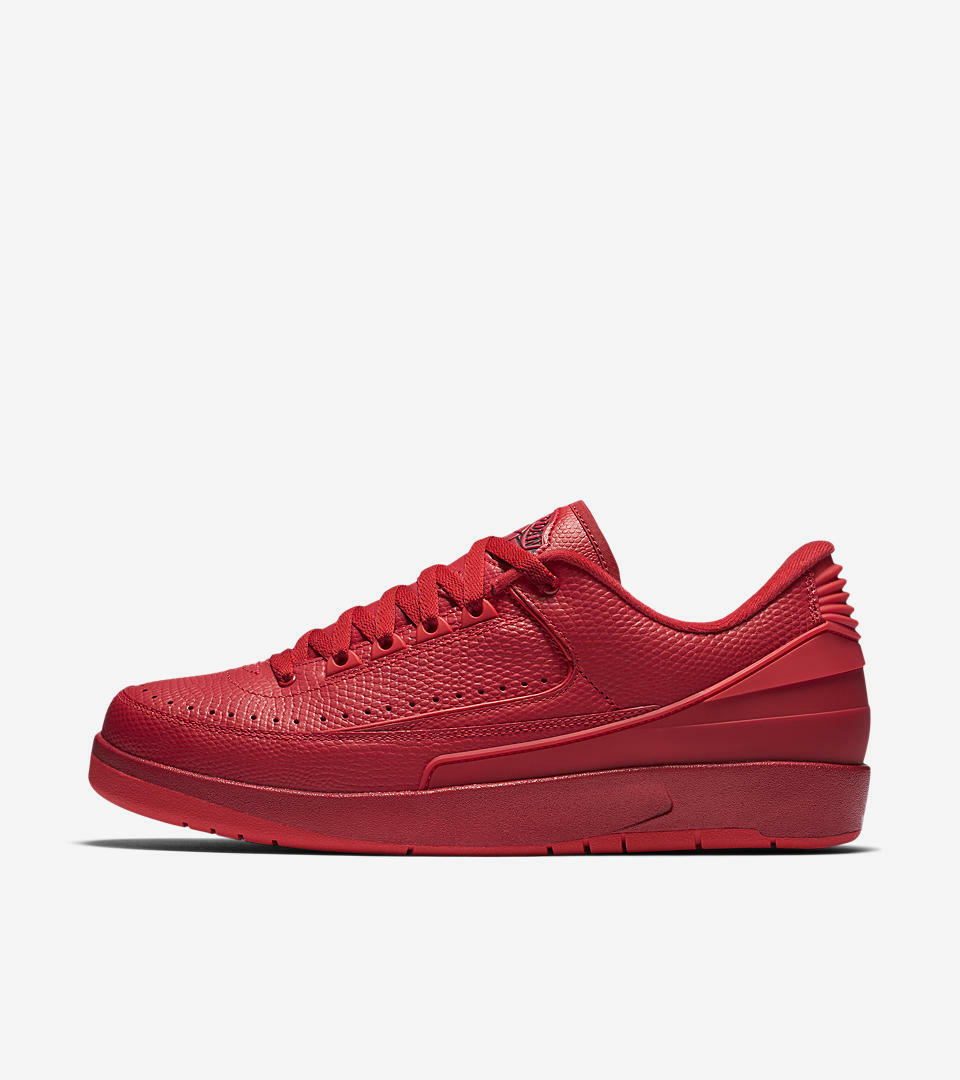 AIR JORDAN 2 RETRO LOW 832819-606 University Red Hyper Turquoise Men's Sneakers
