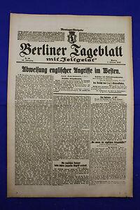 De Berlin Dealer (7.2.1916): Rejet Anglaise Attaques En Occident-afficher Le Titre D'origine éGouttage