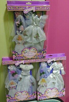 Susy Barbie Doll Wedding Dress 3 Set lot pretty!