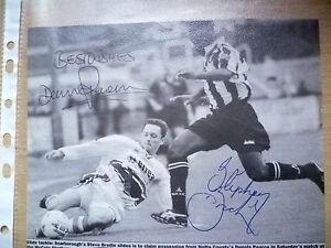 Original-Hand-Signed-Press-Cutting-Soccer-Stars-039-039-SEVE-BRODIE-amp-DENNIS-PEARCE-039-039