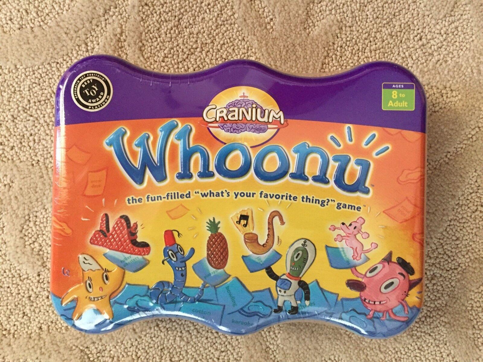 Cranium WHOONU  Tin Favorite Thing Guessing gioco Family divertimento 100% completare 2005  all'ingrosso economico e di alta qualità