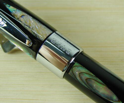 DUKE Legendary Luminous Pearl Roller Ball Pen Green Sea Shell Inlaid