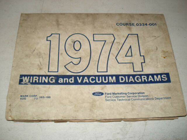 1974 Ford Car Truck Wiring Diagrams Electrical Service
