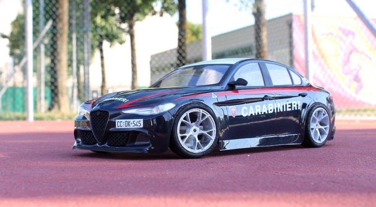 Carrozzeria scocca Alfa Romeo Giulia CARABINIERI Nuova 2018 replica 1 10 rc body