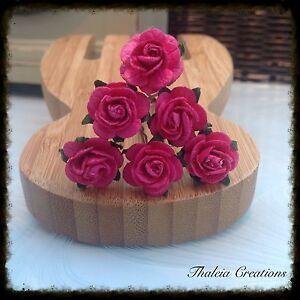 6-ROSE-HAIR-GRIPS-Wedding-Bridesmaid-Hair-accessories-Flower-Girl-Vintage