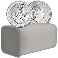 2020 Great Britain Silver Britannia £2 - 1 oz - BU - 1 Roll - 25 Coin Mint Tube