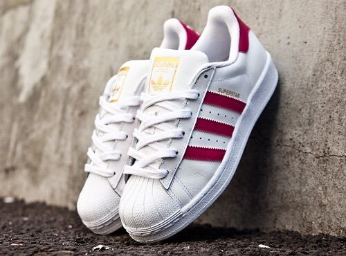ADIDAS SUPERSTAR WHITE & PINK  Price reduction  SUMMER MUST HAVE UK SIZES 3, 4, 5, 6