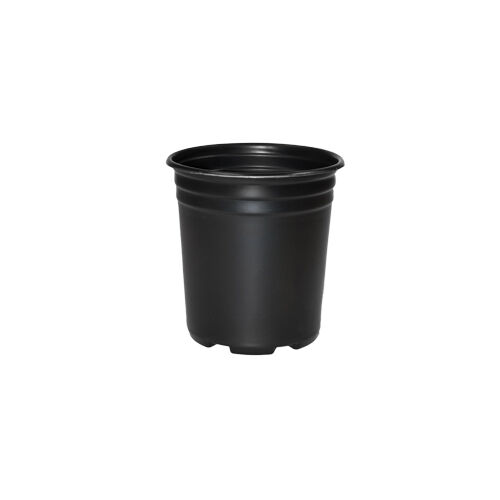 5 x 5 Litre Strong Plastic Black Garden Plant Pots Flower Pot Planter L LT