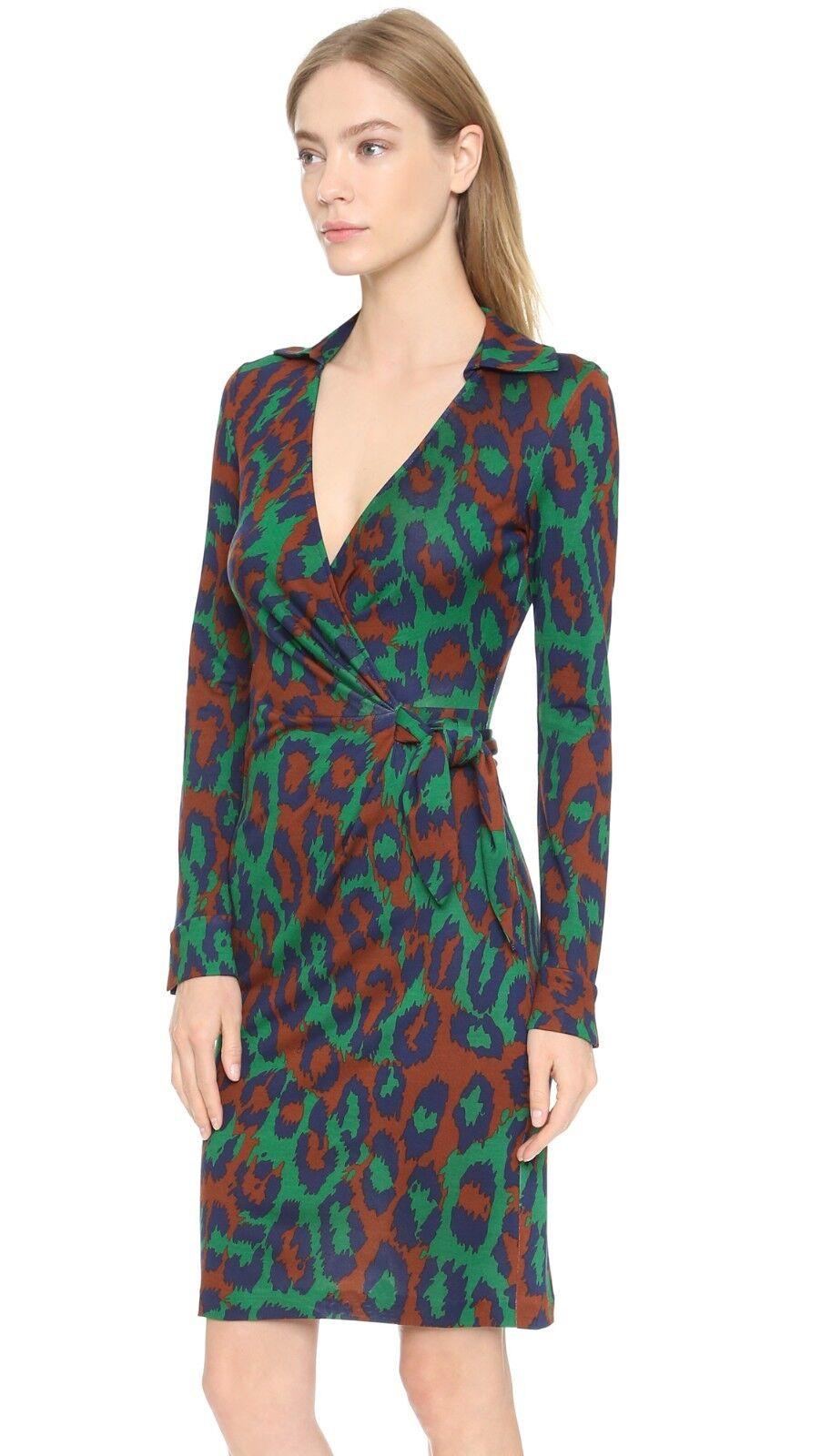 Diane Diane Diane Von Furstenberg  468 Leopard Savannah Dress Size 8 e9a66d