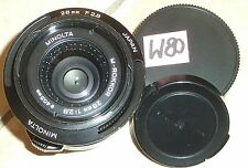 MINOLTA CLE-OBJEKTIV; M-ROKKOR 28mm; 1:2.8; LEICA M-MOUNT (W80)