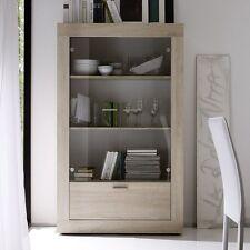 Mobile vetrina 2 ante 1 cassetto moderna Rustica rovere samoa sala soggiorno