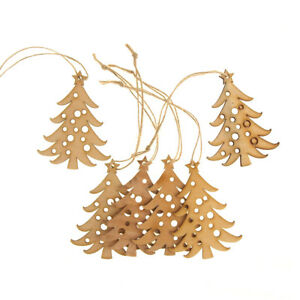 image is loading hanging wooden laser cut christmas tree ornament natural