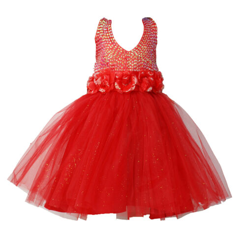 Flower Girl Pageant Dress Girls tutu Dress Blue Red Ivory Lilac 2-6 Years