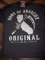 Authentic Sons Of Anarchy Original Samcro Soa Long Sleeve T Shirt Tee Shirt