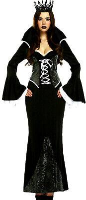 edle schwarze Vampir Königin Kostüm Spinnennetz Design ...