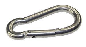 50-x-Mosqueton-de-acero-inoxidable-Gancho-6x-60mm-INOX-V4A-sujecion