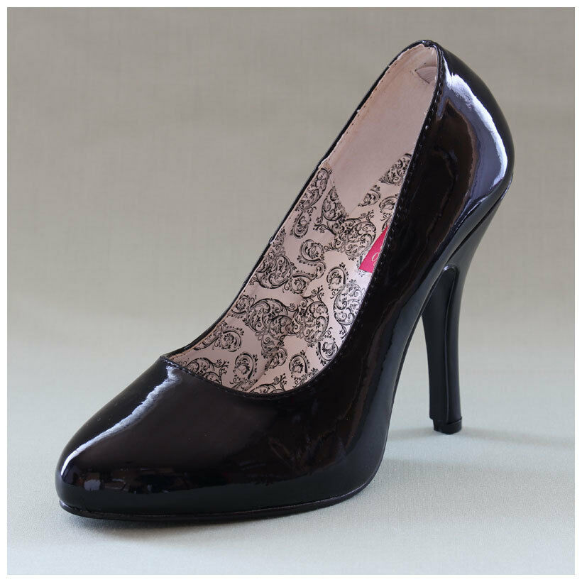 High Heels Pumps Gr. 37   US7 Pleaser Bordello Tempt 35 schwarz lack ( 2190)