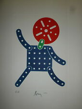 Baj Enrico Gravure originale Signée art abstrait Abstraction Italie Cobra