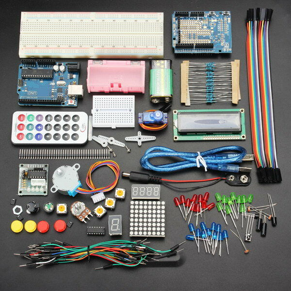 0341 Geekcreit® Uno R3 Basic Starter Learning Kit Upgrade Version For Arduino