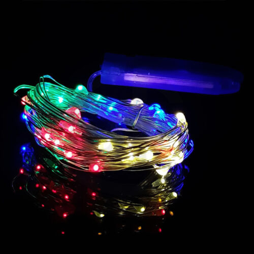 8X 1M 10LED String Light Fairy Micro Copper Wire Christmas Tree Party Xmas Decor