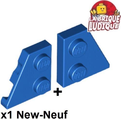 Lego 1x Aile Wedge plate 2x2 right droit left gauche bleu//blue 24299 24307 NEW
