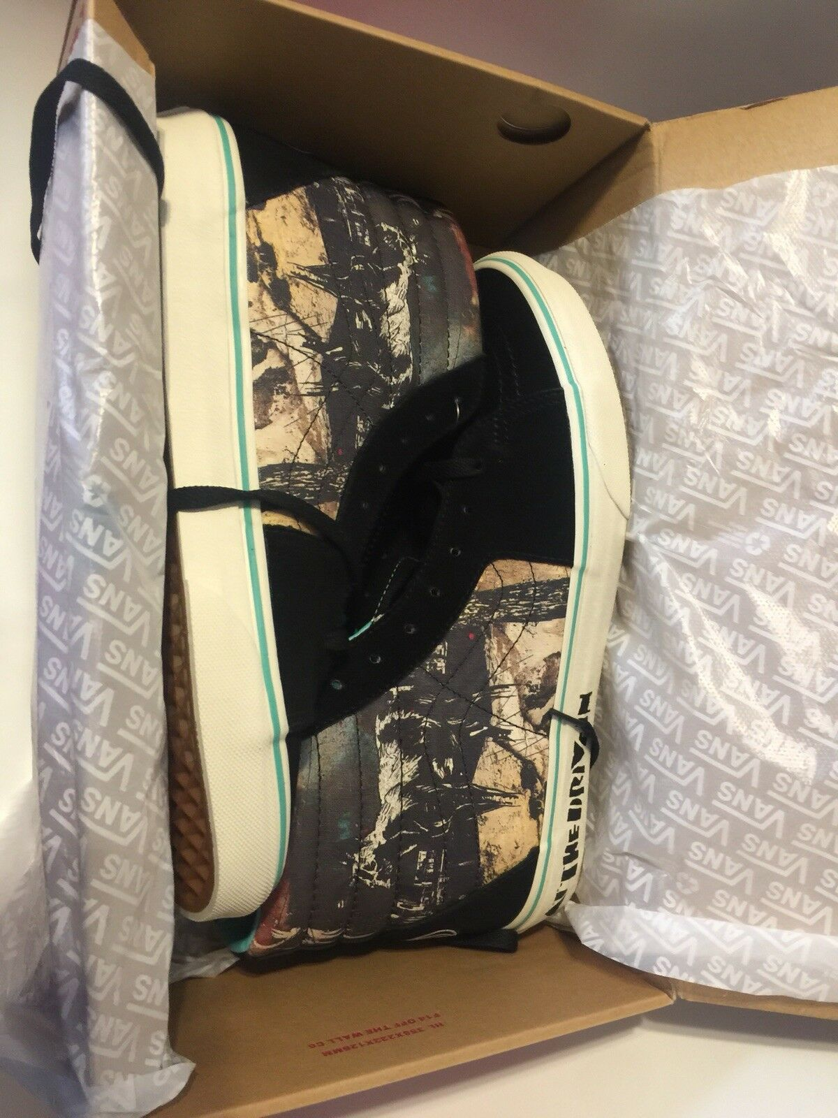 Vans X (ADTI)  Sk-8 Hi Size 10. Officially Licensed Vans x At the Drive In