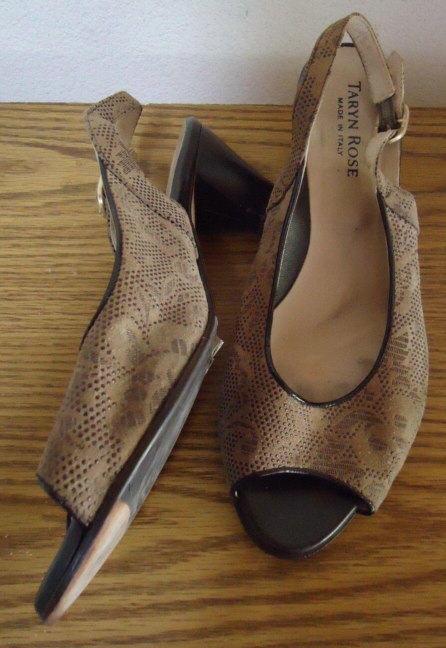 Tan braun Paisley Taryn Rosa Made  Open Toe Slingback Slingback Slingback 2.5  Heels-Größe 37 d273a2