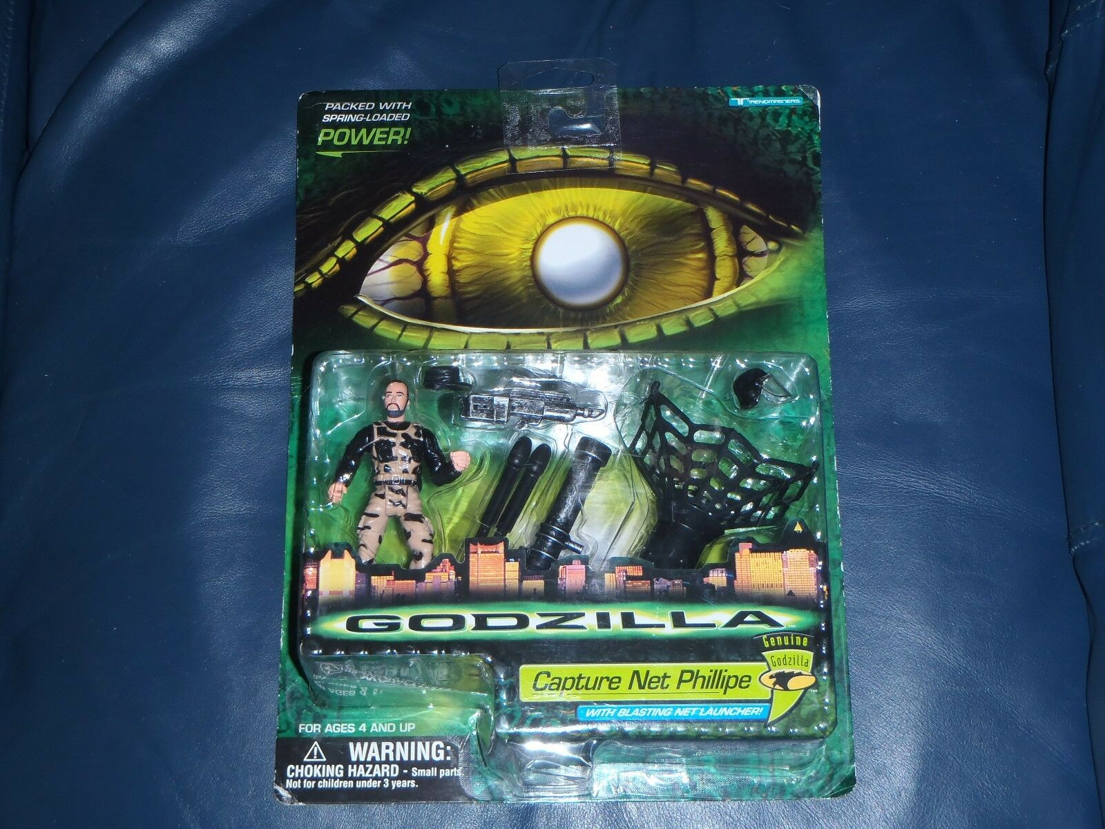 Official GODZILLA Capture Net Phillipe Action Figure   NEW + SEALED