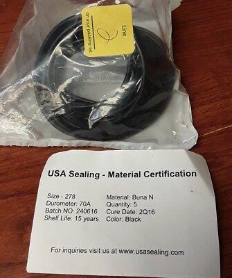 Black 1//4 Width 70A Durometer 441 O-Ring 7 ID Buna-N 7-1//2 OD Pack of 10