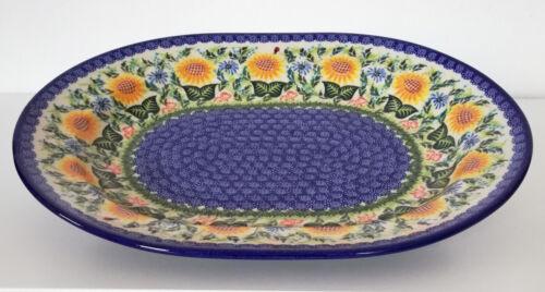 Platte Sonnenblume aus Bunzlauer Keramik Handarbeit nh3101 Geschenk Schale