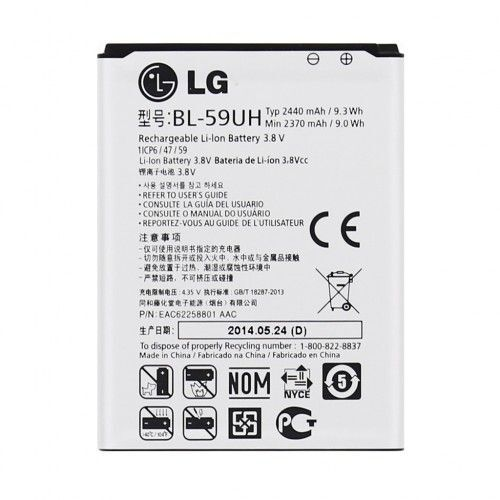 1 of 1 - BATTERY FOR LG G2 MINI D620R D620 D618 BL-59UH 2440MAH
