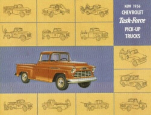 CHEVROLET 1956 Truck Sales Brochure 56 Chevy Pick Up