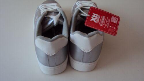 4 femme Xti pour Uk de simili en Eu argenté tennis Chaussures 37 fille cuir wp8qawOC