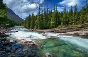 Glacier National Park Montana #4 McDonald Creek Photo Poster Print