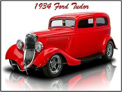 Fully Restored 1937 Ford Sedan Hot Rod New Metal Sign