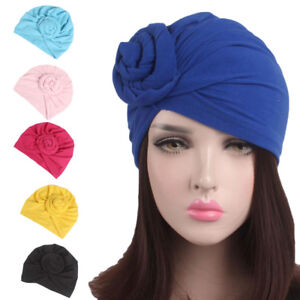 Women-Indian-Knot-Bonnet-Chemo-Cap-Hijab-Turban-Hats-Beanie-Head-Scarf-Wrap-New