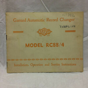 Vintage-Garrard-Automatic-Record-Charger-Model-RC88-4-Instructions