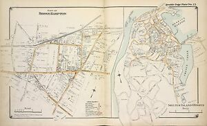 1902 BELCHER HYDE EAST HAMPTON FREETOWN SUFFOLK COUNTY LONG ISLAND NY ATLAS MAP