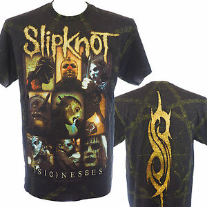 SLIPKNOT-SICKNESSES-ALLOVER-Official-T-Shirt-Heavy-Metal-New-S-M-L-XL