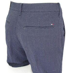 7967e122b Détails sur TOMMY HILFIGER pantalon Chino femme bleu marine pois blancs  DEMI PEACOAT