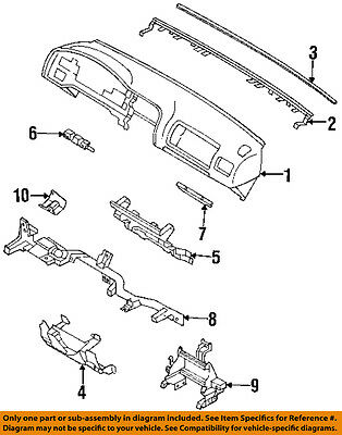 Instrument Panel Ashtray Honda Genuine 8-97153-231-0