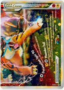 POKEMON • Entei & Raikou LEGGENDA PARTE B 91/95 CARTA ULTRA RARA ORIGINALE NM