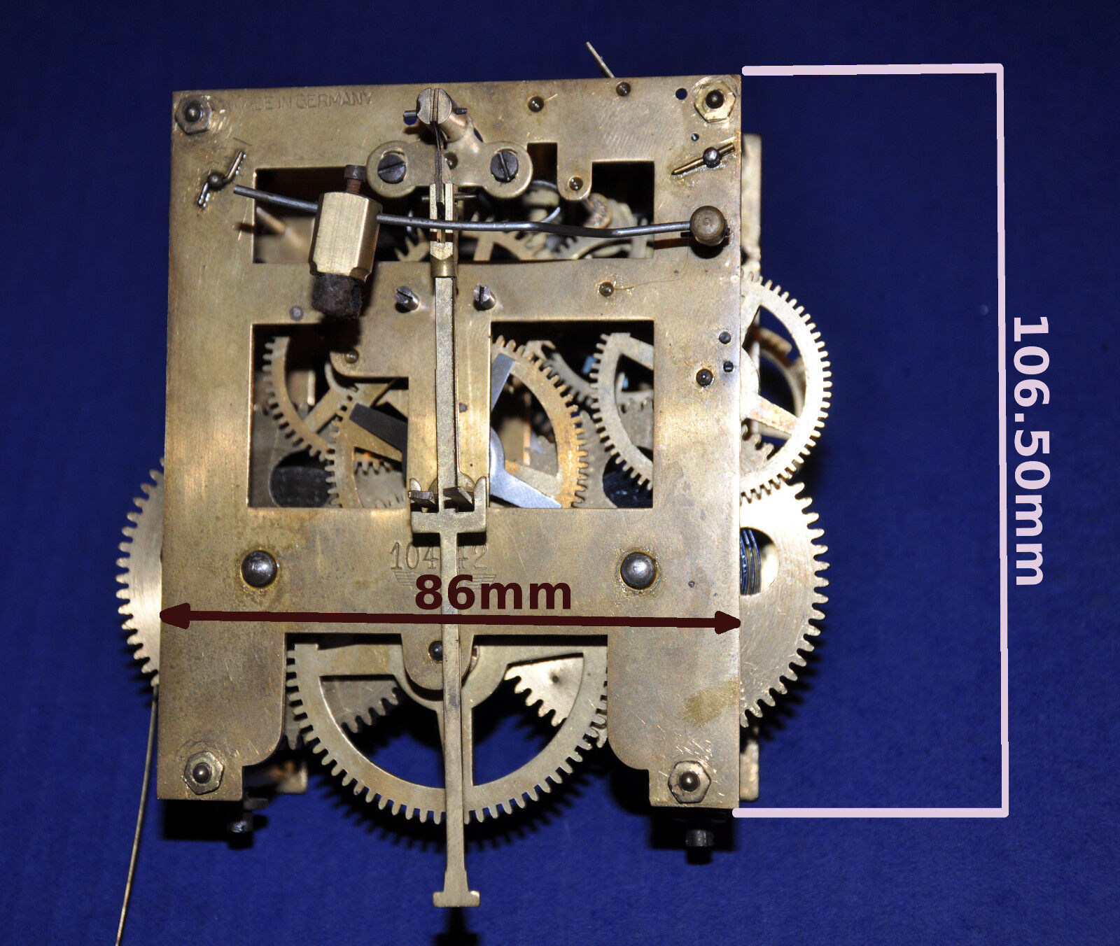 Kienzle german wall clock movement 1089 ebay for Kienzle wall clock parts