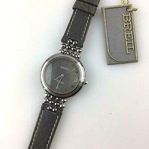 Detalles de Reloj Breil Claridge Cuarzo Mujer 25MM Eta Swiss Made New Old Stock Piel