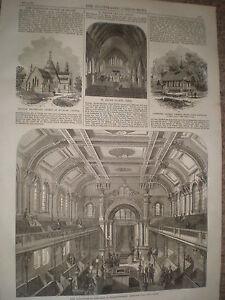 Nueva-sinagoga-judia-Walworth-Road-Londres-1867-antiguos-impresion-ref-Y4